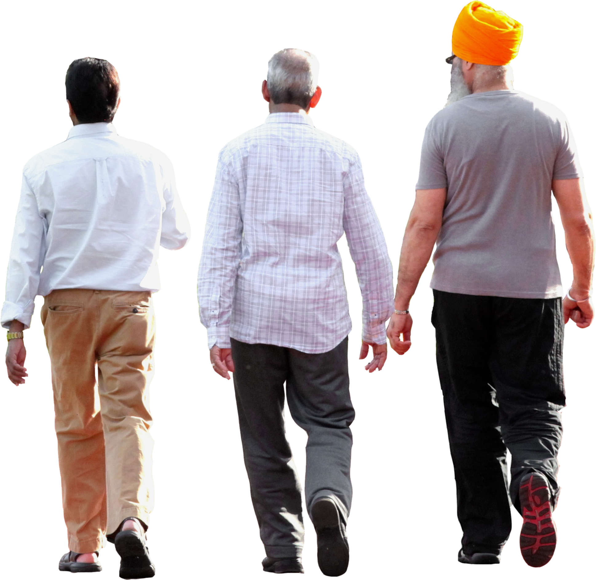 walking human transparent background ethnic three file advertisements cutouts cropped